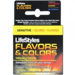LifeStyles Flavors &amp; Colors Lubricated  - 3 Pack Variety Sex Toy